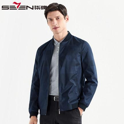 Seven7 Áo khoác nam thương hiệu Qi 2020 mùa xuân mới trung niên nam kinh doanh áo khoác giản dị bóng