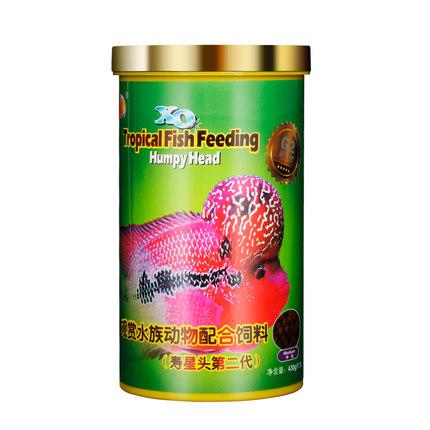Thức ăn cho cá Thức ăn cho cá Lohan Qianhu Shouxing bắt đầu tô màu thực phẩm cá đặc biệt tự hào màu