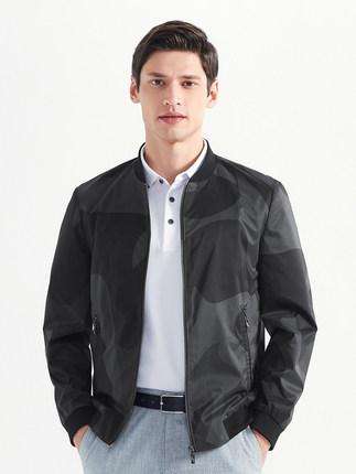Seven7 Áo khoác nam thương hiệu Qi 2020 mùa xuân mới kinh doanh áo khoác nam ngụy trang in áo bóng c
