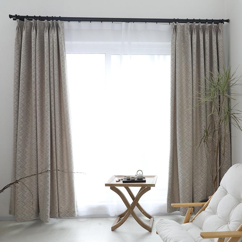 ZAOBUJIANG Vải rèm cửa in phong cách Bắc Âu vải cotton và vải lanh kết cấu đơn giản jacquard rèm che