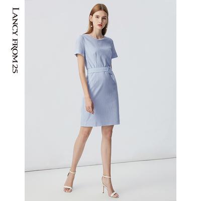 LANCY FROM 25 Thời trang nữ LANCY Langzi 2017 vòng cổ cao eo thon váy đầm F21 nguyên bản 2980