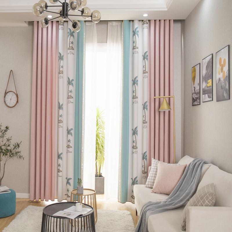 Vải rèm cửa Bắc Âu liền mạch khâu cao bóng dày dày cách nhiệt giả cashmere chenille phòng ngủ phòng