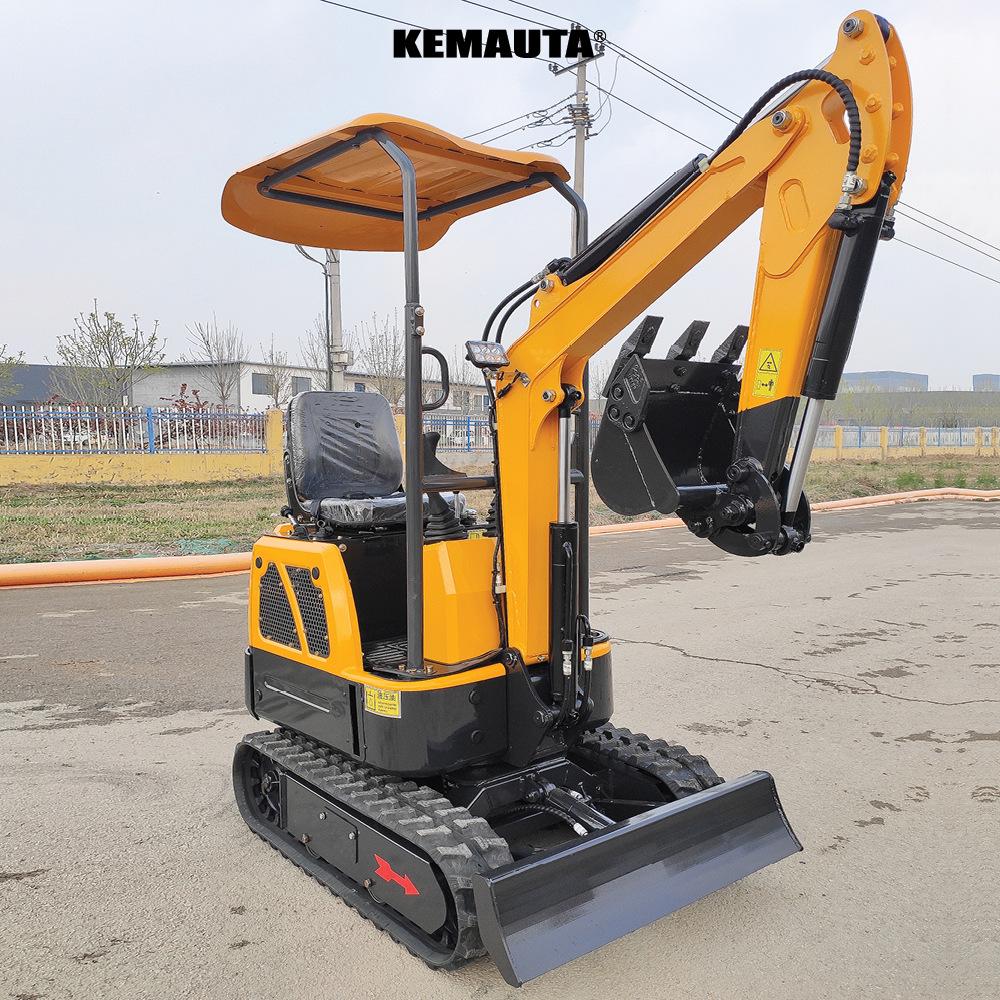 KeMauta Máy đào đất Bánh xe cao su máy xúc nhỏ máy xúc nhỏ Máy xúc nhỏ thương hiệu mới máy xúc nông