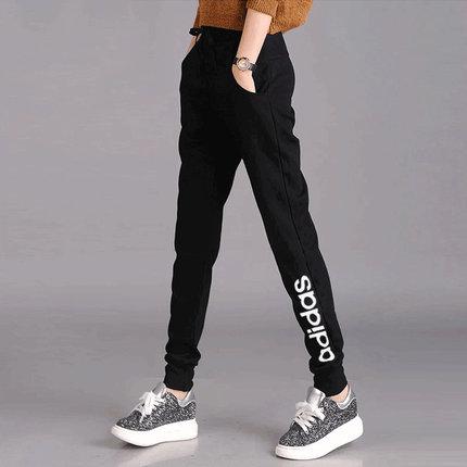 Adidas Quần Quần mùa hè mỏng Adidas trang web chính thức quần của phụ nữ quần tây chân quần kín chân