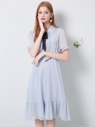 Qiushui Đầm Váy voan Qiushui Irac Pháp tình yêu siêu ngọt ngào tiên nữ mùa hè 2020 váy mới chạm đáy