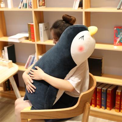 Búp bê vải Mềm dễ thương nằm búp bê chim cánh cụt búp bê hồ thủy tinh đồ chơi sang trọng rag búp bê