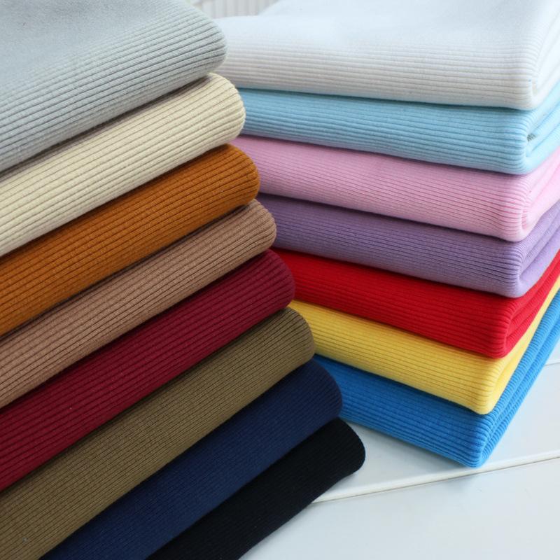 HUFENG Vải Rib bo Bán nóng 32 bông vải 2 * 2 sườn, cổ tay áo, vải sườn, vải dệt kim sợi bông