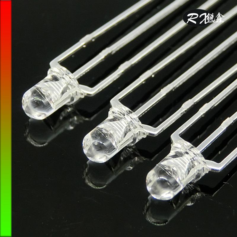 RUIXIN Điốt bán dẫn Nhà máy trực tiếp tùy chỉnh đôi màu ánh sáng đôi đèn led hạt trong suốt màu đỏ v