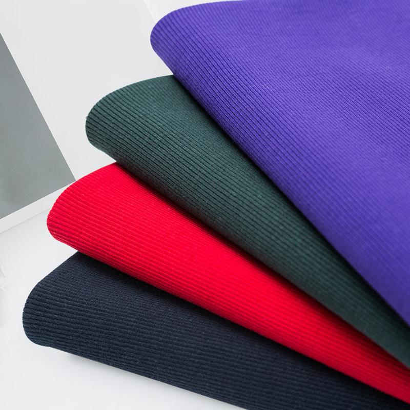 WOYE Vải dệt kim Vải sườn cotton chải kỹ mới, mặc nhà, đồ thể thao, lót, nhà sản xuất vải dệt kim, b