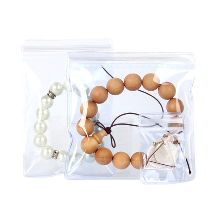 Wangnuo Túi đựng trang sức nhỏ PVC đồ trang sức trong suốt ziplock túi nhựa đồ trang sức túi đồ tran