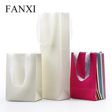 Fanxi Túi đựng trang sức túi xách tay trang sức quà tặng bao bì túi trang sức túi 10 chiếc / gói in