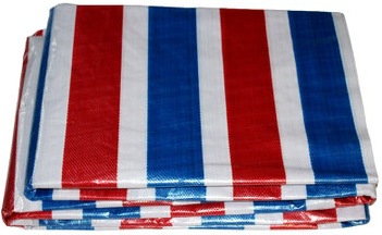 Bạt nhựa Vải sọc màu ba màu chống mài mòn và ngón chân chống ánh sáng che mưa vải nhựa vận chuyển vả