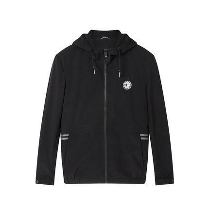 Seven7 Áo khoác Qi thương hiệu áo khoác nam đô thị giản dị trùm đầu áo khoác dây kéo mùa thu và mùa