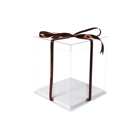Zhe Heng Hộp giấy bao bì Hộp bánh sinh nhật trong suốt đầy đủ 4/6/8/10/12 inch hộp đựng trong nhà d