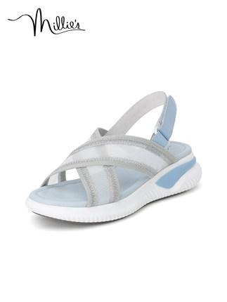 Millie's giày bánh mì / giày Platform / Miao Li 2020 mùa hè Velcro thể thao bánh xốp gió dày đáy dé