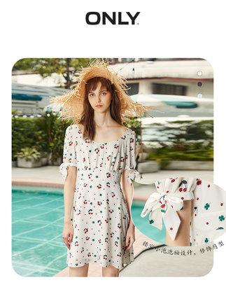 Váy CHỈ mùa hè mới cổ vuông eo thon gọn khí chất Pháp váy hoa retro nữ | 119107732