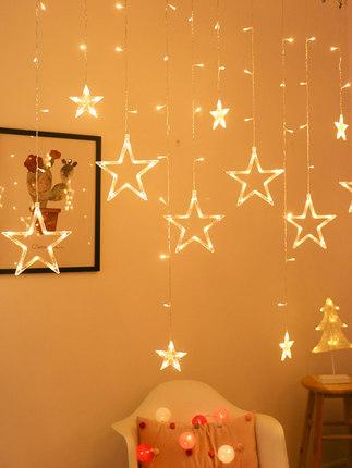 Đèn trang trì  led sao đèn rèm ban công phòng ngủ bố trí phòng nữ trang trí nhỏ đầy màu sắc đèn nhấp
