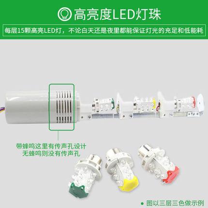 Đèn tín hiệu Đèn cảnh báo nhiều lớp Taibang TB50 LED ba màu ánh sáng máy công cụ chỉ báo tín hiệu th