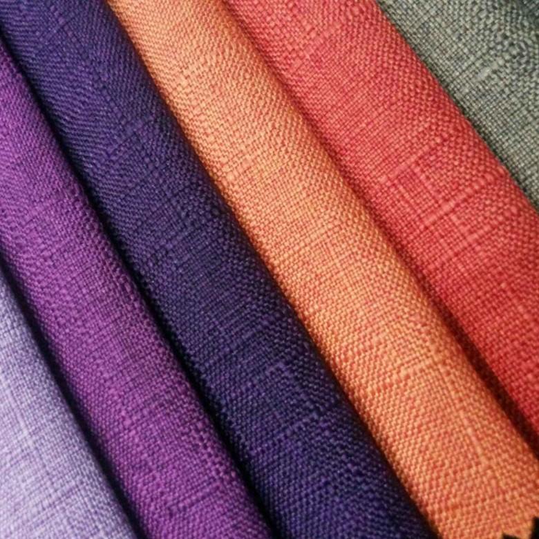 HUASHENG Vải Linen Nhà máy trực tiếp sofa vải lanh vải lanh khăn trải bàn đệm vải gối vải bông và la