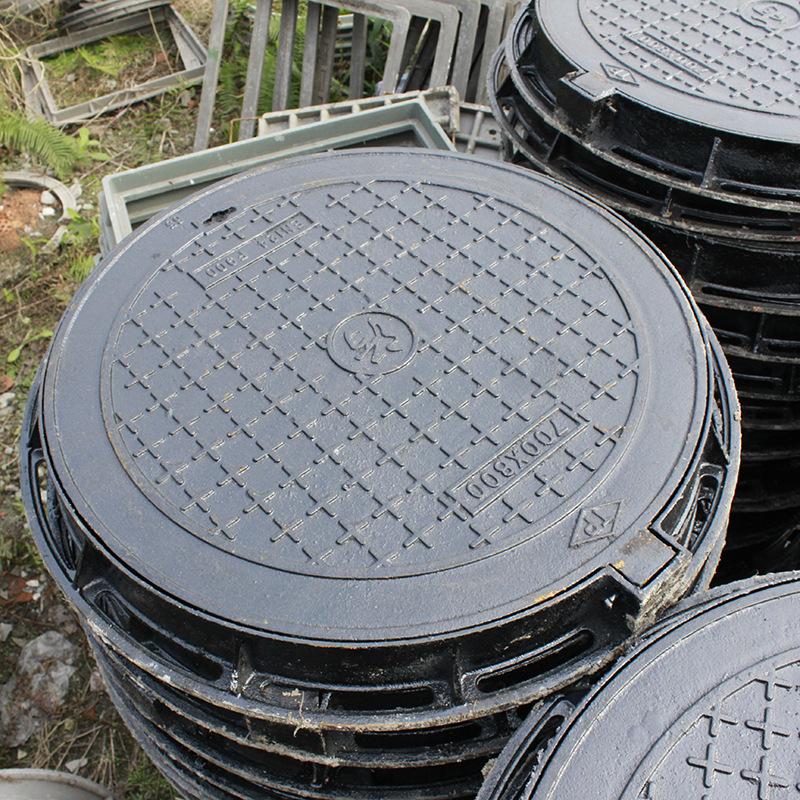 LINYONG Nắp cống Nhà máy trực tiếp bán nắp hố ga bằng sắt dễ uốn nhẹ và chống cháy điện nặng.