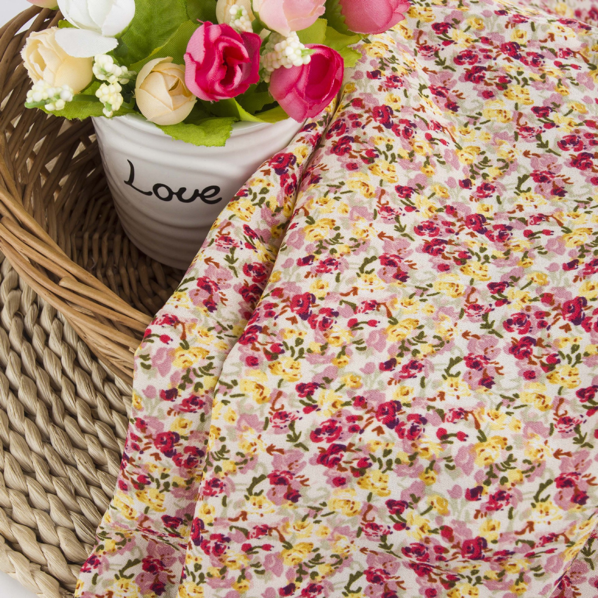 HUAYIFANG Vải Chiffon & Printing 2020 Sản phẩm mới Babaoge Vải hoa Vải voan In vải Xử lý hình bản đồ