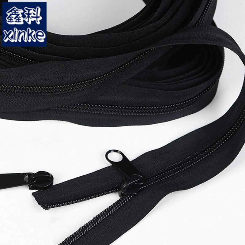 XINKE Dây kéo Nylon Lều dây kéo lớn số 8 số 10 đầu dây kéo nylon mã hóa miễn phí cắt 5 mét 10 mét dâ