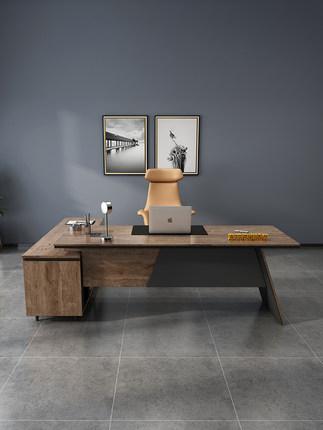 YIXNI Thị trường nội thất văn phòng  Bàn ông chủ bàn chủ tịch bàn đơn giản hiện đại bàn giám đốc điề