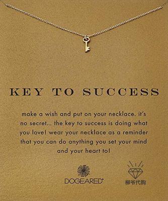 Dogeared đồ trang trí trang phục Mạ bạc sterling mạ vàng / Vòng cổ chìa khóa mạ vàng 14k 18