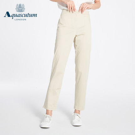 Aquascutum áo thun / Yage Shidan Bà Xuân và Hè Mới Quần dài thẳng thẳng giản dị Quần dài cạp cao