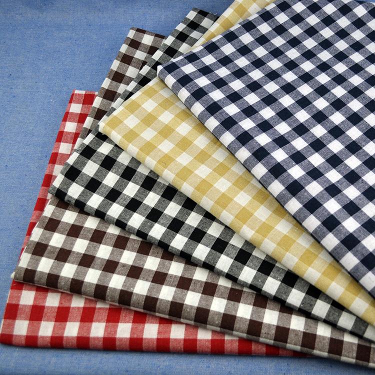 JINYUAN Vải Cotton pha Nguồn nhà sản xuất Vải may mặc Polyester / cotton kẻ sọc pha trộn khăn trải b