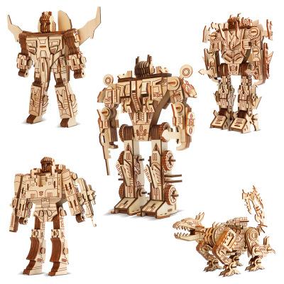 Birkeetoys Tranh xếp hình 3D Hồng Đài bán hàng trực tiếp 3d câu đố ba chiều bằng gỗ trẻ em câu đố đồ
