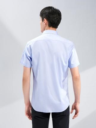 Hailan Áo Sơmi  HLA / Hailan House Đơn giản, màu sắc đơn giản Áo sơ mi ngắn tay không có sắt 2020 Mù
