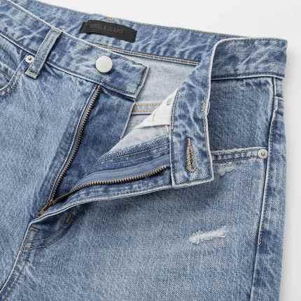 UNIQLO Quần Casual  Quần denim ống rộng hẹp của phụ nữ (Sản phẩm đã giặt) 427456 UNIQLO