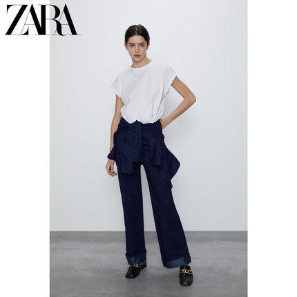 ZARA áo thun  Áo thun nữ trang trí khâu mới của ZARA 04174156250