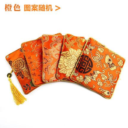 Wenwan Túi đựng trang sức túi đĩa hạt dây kéo thêu kit túi hạt óc chó hạt vòng tay trang sức túi mặt