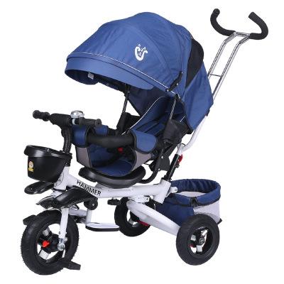 JINMIN Xe đẩy trẻ em Trẻ em gấp ba bánh có thể nói dối 1-3-6 tuổi Xe đạp trẻ em xe đẩy em bé xe đạp