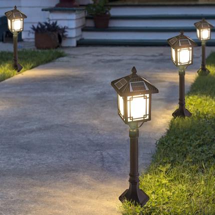 Đèn LED thảm cỏ Đèn năng lượng mặt trời ngoài trời không thấm nước nhà biệt thự sân vườn loại cỏ đèn
