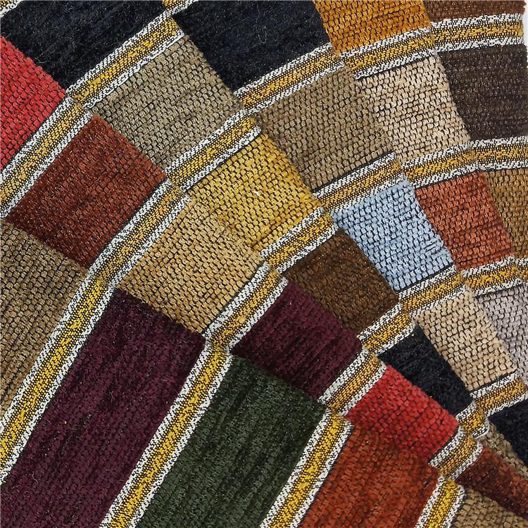 Vải Yarn dyed / Vải thun có hoa văn Nhà máy trực tiếp bán cát Chenille phát hành sợi nhuộm vải jacqu