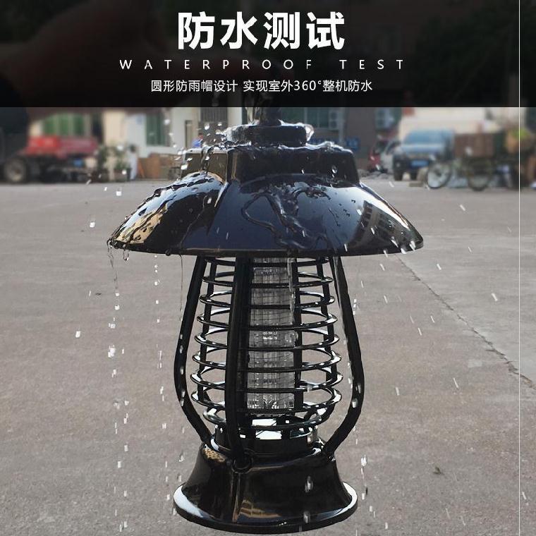 Đèn diệt muỗi ngoài trời sử dụng năng lượng mặt trời .