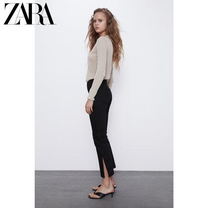 ZARA quần Jean  mới TRF quần jean nữ xẻ eo cao thoải mái 06688020800