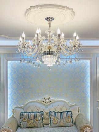 Đèn chùm pha lê châu Âu trang trí phòng khách phòng ăn phòng ngủ .