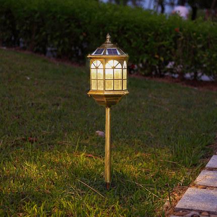 Đèn LED thảm cỏ Đèn năng lượng mặt trời nhà ngoài trời không thấm nước biệt thự cộng đồng trang trí