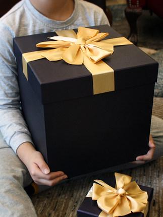 Chuangpinyin Hộp giấy bao bì Hộp quà lớn hình vuông, hộp bao bì bóng đá màu xanh, hộp Hàn Quốc, tùy