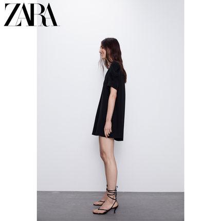 ZARA Đầm  mới TRF tay áo phồng phụ nữ 04661301800