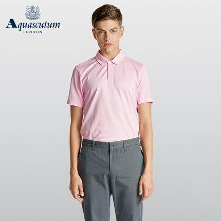 Aquascutum áo thun / Yage Shidan nam cotton đính hạt áo ve áo thoải mái áo POLO