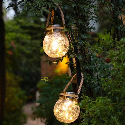 Jucheng Đèn trang trì  Đèn lồng năng lượng mặt trời ngoài trời trang trí sân vườn sáng tạo nhỏ treo