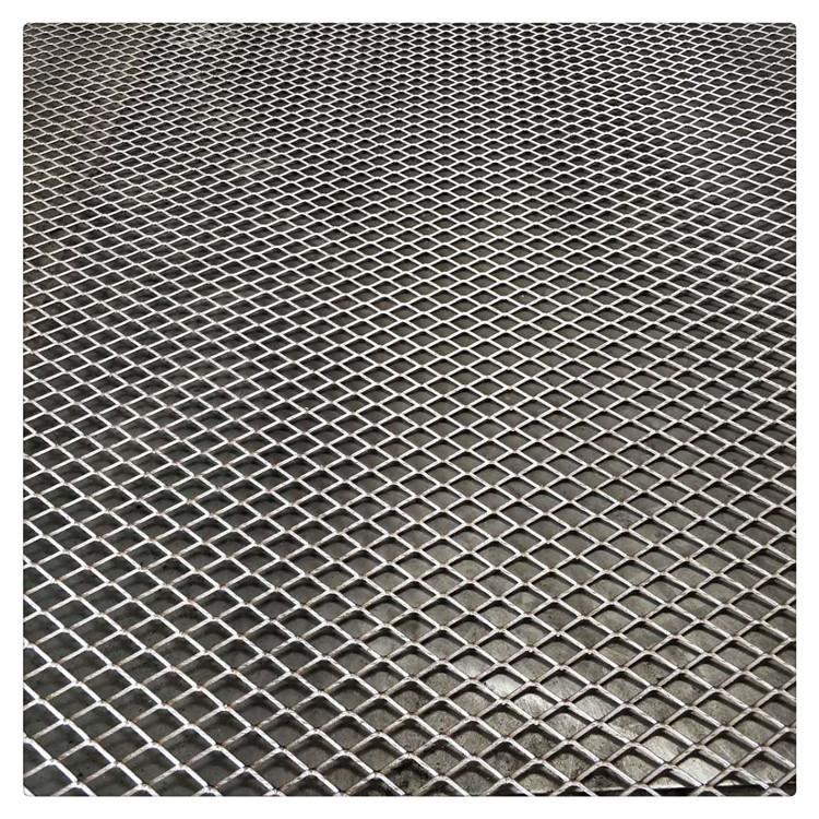 Lưới kim loại Nhà máy Phật Sơn bán hàng trực tiếp kim cương bước thép lưới kim loại kéo dài kim cươn