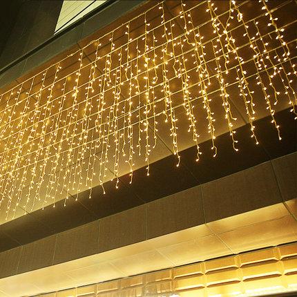 Đèn trang trì  Đèn led ngôi sao nhỏ màu đèn nhấp nháy đèn chuỗi ánh sáng đầy sao đèn rèm đèn icicle