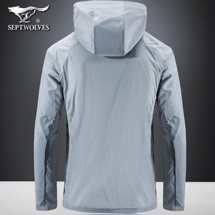 Áo khoác Một con sói bảy áo chống nắng mùa hè quần áo nam mùa xuân và mùa thu mới siêu mỏng băng lụa