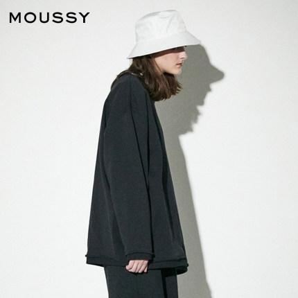 MOUSSY Sweater (Áo nỉ chui đầu)  X adidas tên chung 2020 mùa xuân mới cổ tròn áo len dài tay rộng 01